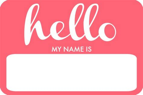 printable name tags hello my name is the 25 best printable name tags ideas on pinterest