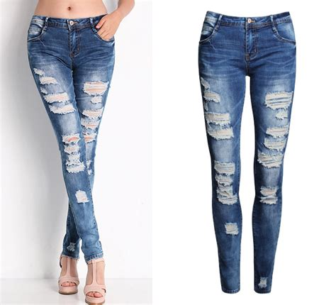 Ripped Cotton On 2045 new 2016 fashion cotton denim stretch womens ripped