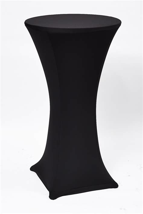 Ideas For Cocktail Parties - pedestal cocktail table cover black perth party hire