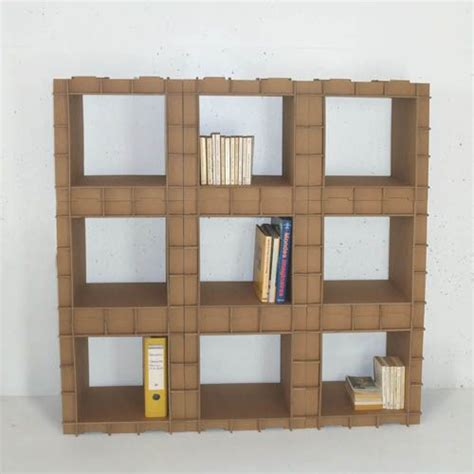 cardboard bookshelf unit by dany gilles upcycling
