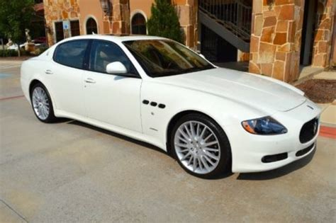 electric and cars manual 2012 maserati quattroporte electronic valve timing sell used 2012 quattroporte s white on tan low miles like new clean carfax call in