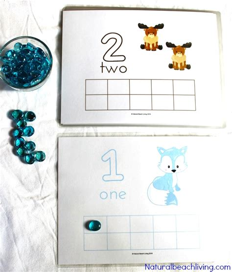 printable winter playdough mats winter animal printable number playdough mats natural