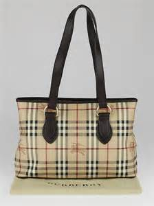 Burberry Check Canvas Tote by Burberry Haymarket Check Coated Canvas Medium Regent Tote