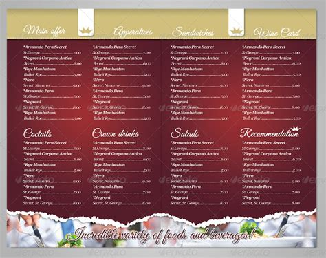restaurant menu templates free restaurant menu template 53 free psd ai vector eps
