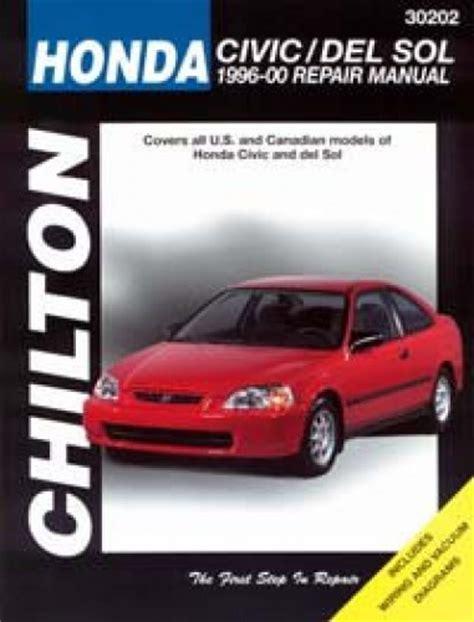 chilton car manuals free download 1998 dodge neon interior lighting chilton honda civic crx and del sol 1996 2000 repair manual