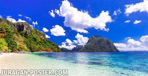 gambar pemandangan laut indah jual poster  juragan poster