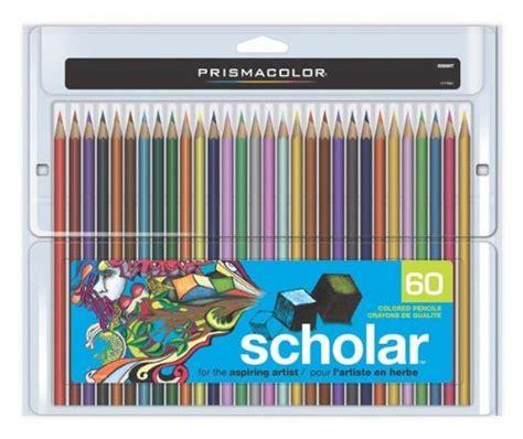 prismacolor scholar colored pencils 60 prismacolor scholar pencil 60 color set