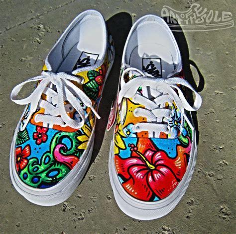 Sepatu Vans Flower Black 43vf aloha custom painted vans authentics shoes