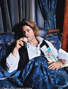 You Can Eat Crackers In Bed by Brad Pitt Tells W Magazine That He Was Told He Couldn T