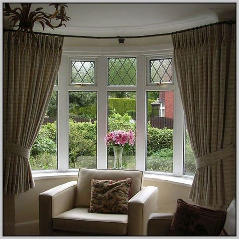 bay window curtain ideas curved bow window curtain rod curtains home design