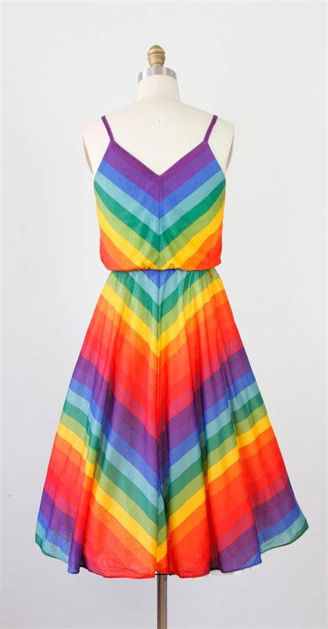 rainbow colored dresses bold rainbow chevron stripe sun dress my style rainbow