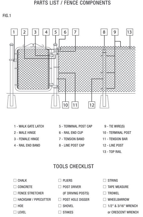 wiring installation materials fence how to install chain link fence ideas chain link