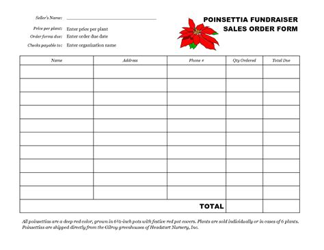 search results for free fundraiser order form template