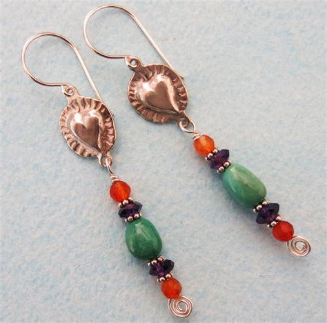 Handmade Jewerly - handmade turquoise and earrings handmade jewelry