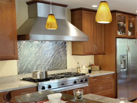 kitchen design idea install a stainless steel backsplash 20 stainless steel kitchen backsplashes hgtv