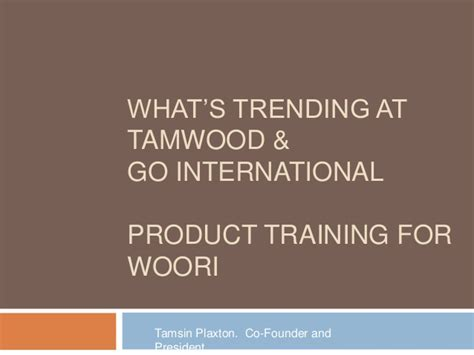 Woori Bank Letter Of Credit Whats New At Tamwood For 2014 Presentation For Woori