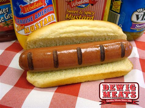 brat hot dog products services dewig meats pork sausage beef