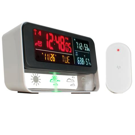 enhance digital weather station with built in alarm clock