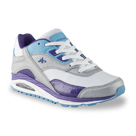 white leather athletic shoes sears