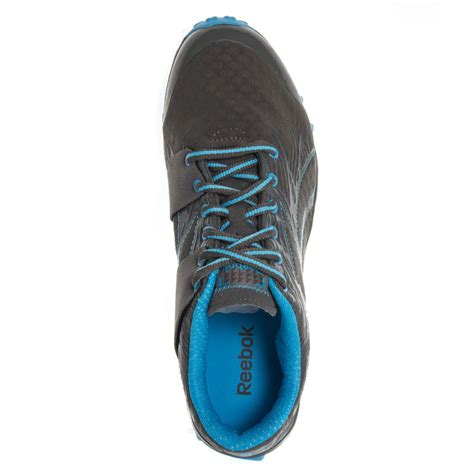 reebok realflex womens running shoes grey blue