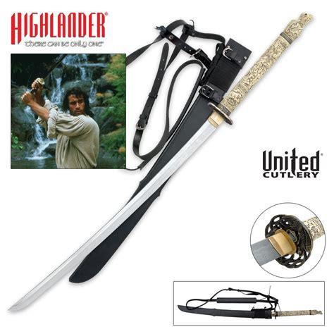 highlander katana highlander duncan macleod forged katana sword budk