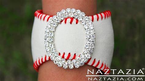 DIY Learn How To Make Baseball Cuff Bracelet (leather bracelets from baseballs jewelry jewellry