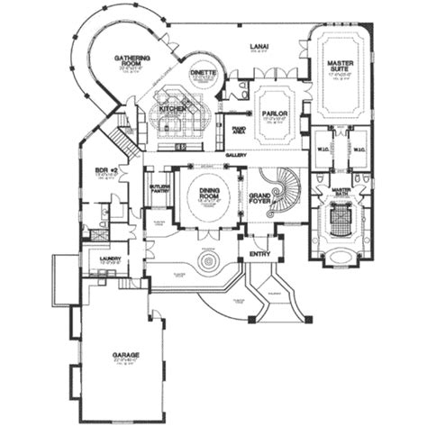 European Floor Plans by European Style House Plan 3 Beds 4 5 Baths 6234 Sq Ft