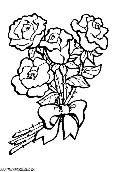 imagenes de flores y rosas flores rosas coloring pages