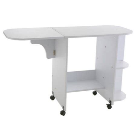 rolling craft table with storage rolling sewing machine craft table drop leaf white folding
