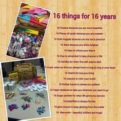 Gift Ideas For A 16 Year Boy - sweet 16 birthday gift idea quot 16 things we about you