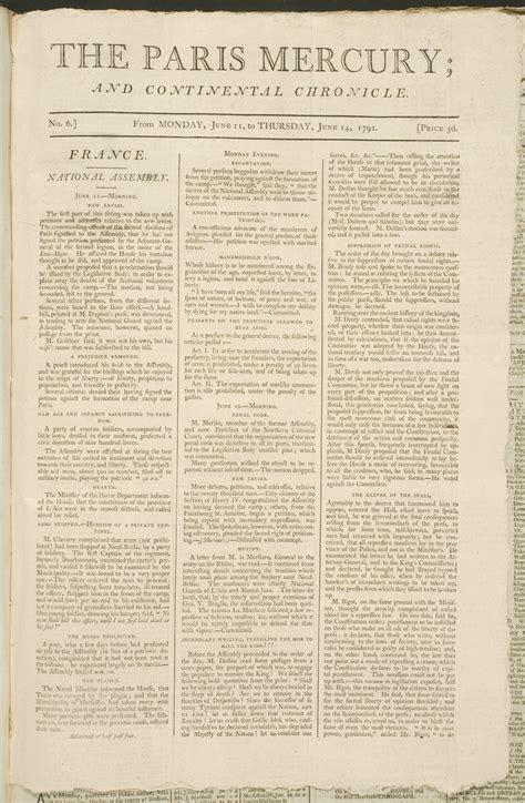 les journaux anglophones sous la r 233 volution fran 231 aise