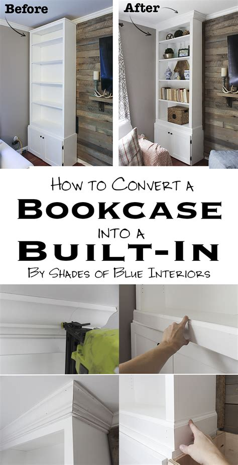 turn fireplace into bookshelf how to convert bookcases into built ins