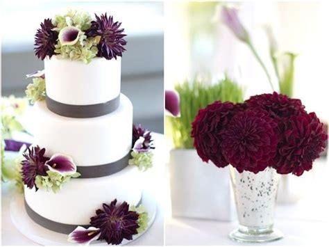 wine colored flowers burgundy wine colored flowers decorate the cake and