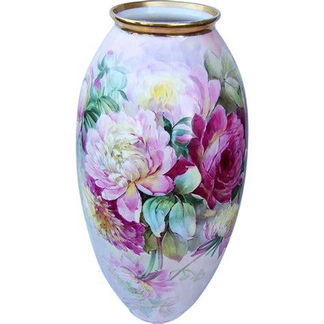 Pink Floor Vase by 19 1 2 Quot Fabulous Lenox Belleek 1914 Painted Vibrant