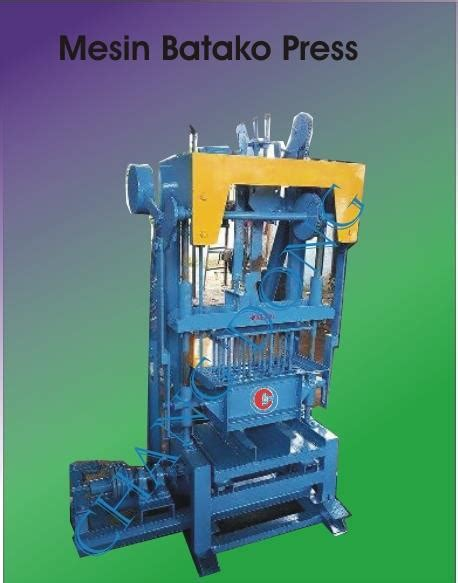 Jual Cetakan Batako Bekasi jual mesin batako press harga murah bekasi oleh cv