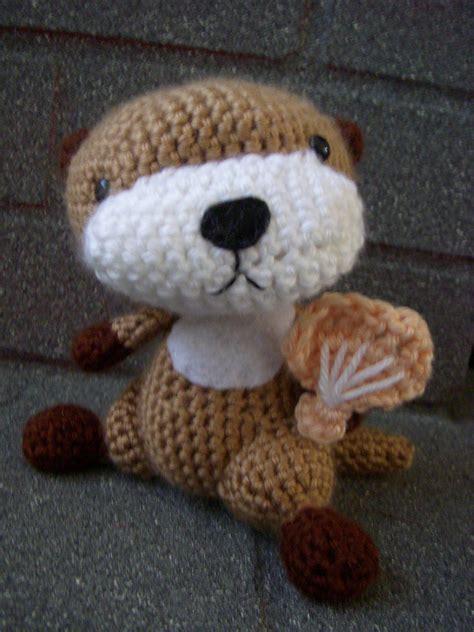 felt otter pattern otter 183 an animal plushie 183 crochet on cut out keep