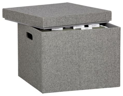 Cabinet Boxes by Felt File Box Filing Cabinets By Cb2