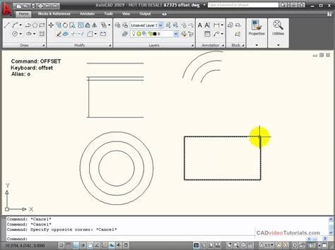 Autocad Tutorial Offset Command | autocad tutorial using the offset command youtube