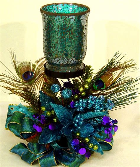 peacock passion floral flower arrangement by