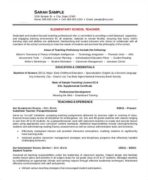 free elementary resume templates free resume 40 free word pdf documents