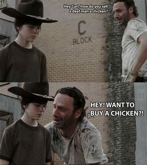 Rick And Carl Meme - walking dead dad jokes 24 pics weknowmemes