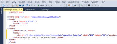 format html code in visual studio 2013 dynamics crm html web resources in visual studio 2013