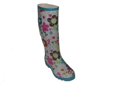 flower pattern boots china ladies flower pattern rubber shoes china rain
