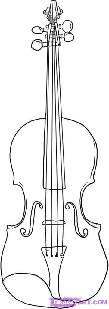 how to draw a violin step by step string musical