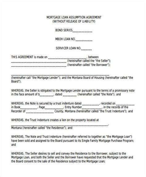 34 Simple Agreement Forms Free Premium Templates Mortgage Purchase Agreement Template