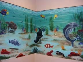 Wall Art Mural wall aquarium mural art nufaux pinterest aquarium wall