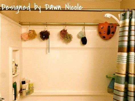 curtain storage use an extra shower curtain rod for extra storage