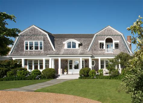 Farmhouse House Plan by New England Gambrel Roof Home Martha S Vineyard Donald