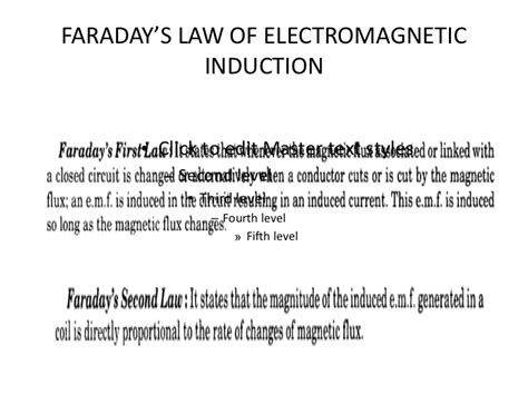 third principle of induction faradays laws lenz