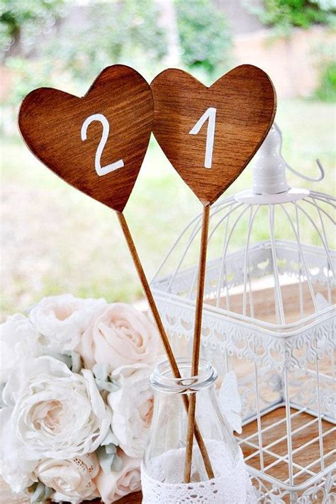 table numbers on sticks 5 wooden table number shaped wooden wedding